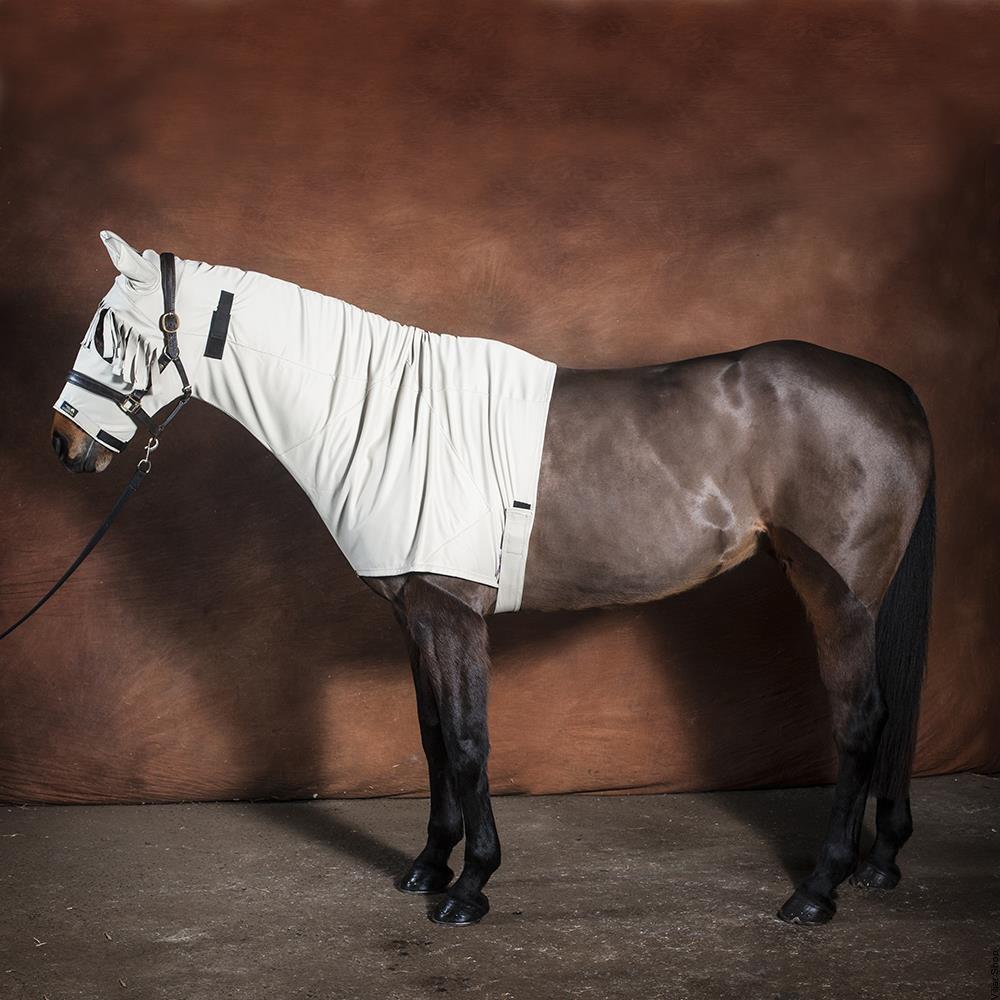 Snuggy Hoods Sweet Itch Anti Horse Hood Zy Beige S Vejullinen